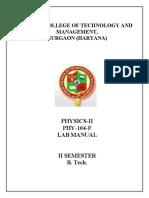 Phy Lab Manual 2nd Sem