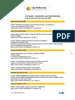 Agenda Actividades Destacadas. Del 24 de abril al 7 de mayo de 2017. Fundación Caja Mediterráneo