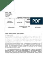 Conseil Communal  -  Les conseils de participation