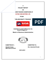 Project Report on Kotak Securities_194199856