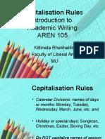 Capitalisation Rules AREN 105