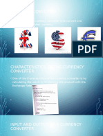 presentation of currency converter and a cup of tea flow chart