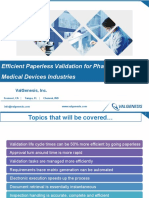 Efficient Paperless Validation for Pharma & Medical Devices Industries