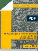 Instrucciones Mezclas Bituminosas - Mop