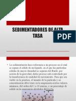 Sedimentadores de Alta Tasa