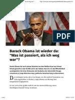 Obama ermunterte junge Menschen dazu, politische Verantwortung zu uebernehmen