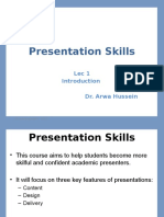 Lecture 1-Presentation Skills- Introduction
