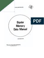 Bipolar Memory Data Manual