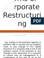 Other Forms of Corporate Restructuring Ppt