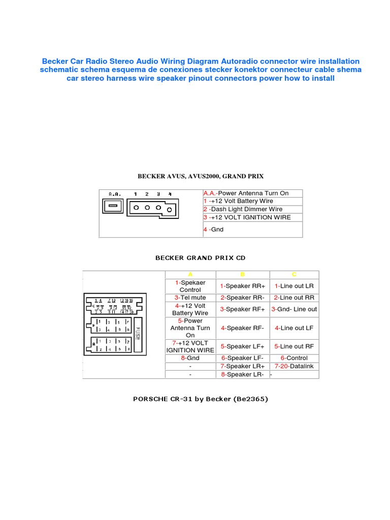 becker wiring diagram wiring diagram rh w49 woonaccentbreda nl