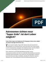 Astronomen Sichten neue Super-Erde