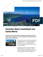 Forscher lösen Inselraetsel von Santa Maria
