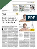 Logro Peruano, La Eliminación Del Hipotiroidismo
