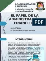 1. Introducción a La Administración Financiera