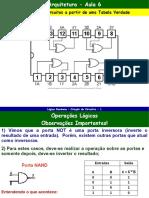 Arquitetura - Aula 06 - Obtenção de Circuitos a Partir Da Tabela Verdade