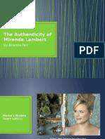 the authenticity of miranda lambert