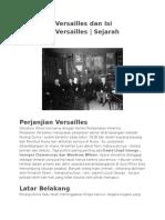 Perjanjian Versailles Dan Isi Perjanjian Versailles