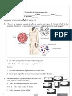 Evaluación Ciencias