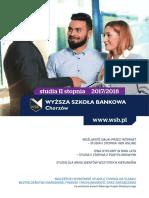 Informator 2017 - Studia II Stopnia - Wyższa Szkoła Bankowa w Chorzowie