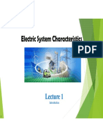 Electric System Characteristics