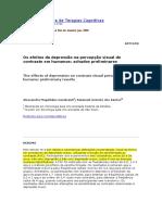 Os Efeitos Da Depressão Na Percepção Visual de Contraste Em Humanos_achados Preliminares