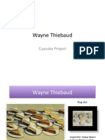 wayne thiebaud-cupcake project