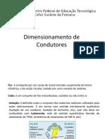 Instalações Indutriais - Métodos de Dimensionamentos de Condutores