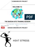 Heat Stress Site Training 2013
