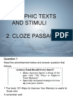 Graphic Texts and Stimuli