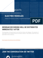 CB Insights Electric Vehicles Webinar
