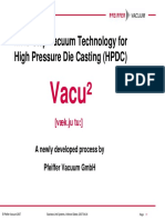 Vacuum- Assisted Diecasting