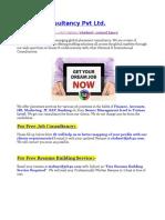 Job & Free Resume Building Application Form