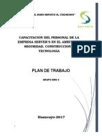 Plan de trabajo( ensayo de empresa)