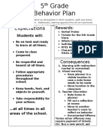 5th grade discipline plan