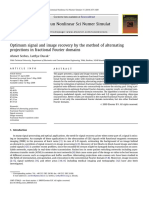Optimum signal and image recovery by the method of alternating projections in fractional Fourier domains