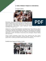 Konflik Sara Yang Pernah Terjadi Di Indonesia