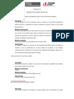 Especificaciones Tecnicas Jr Santa Rosa