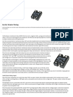 Solid State Relay or Solid State Switch