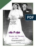 Livreto - Bodas de Sândalo - Alvina e Aquilino Rosset