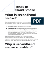 Second Hand Smoking