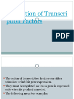 Regulation of Transcription Factors