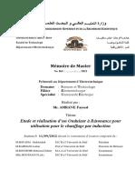 Thèse Master Mr. AMRANE Fayssal 2012 (University Ferhat ABBAS Setif-1, Algeria).