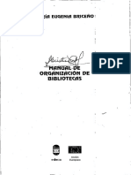 Manual Para Organización de Bibliotecas Briceño
