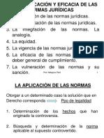 Tema 3. APLICACIÓN Y EFICACIA DE LAS NORMAS JURÍDICAS