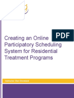 Creating an Online Participatory Scheduling System for Residential