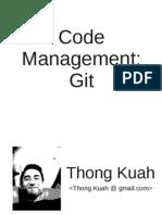 Git Presentation - Summer of Tech 2010