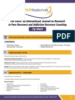 PARfessionals' Tip Sheet on Research for Peer Providers