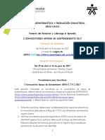 Convocatoria Apoyos de Sostenimiento 2017