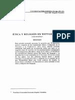 Ética y Religión en Wiggenstein