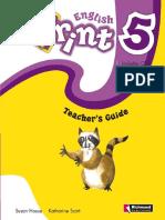 English Print 5 Teacher´s book